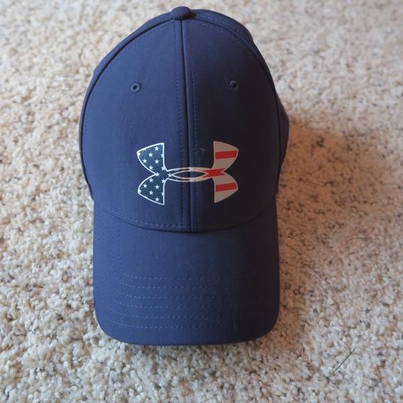 90c6f51934 NWOT American Flag Under Armour Hat - L/XL